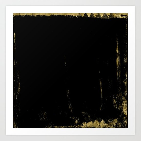 Black and Gold grunge modern abstract backround I Art Print