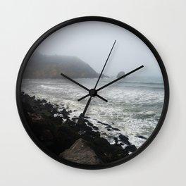 Foggy Coastline Wall Clock