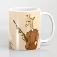 gangster Mugs featuring Gangster Giraffe by Ichorteeth