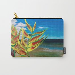 Heliconia Tropical Parrot Plant Take Me There Carry-All Pouch
