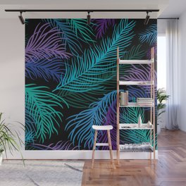 Multicolored palm leaves Wall Mural