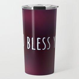 GOD bless you (red violet) Travel Mug