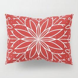 Single Snowflake - red Pillow Sham