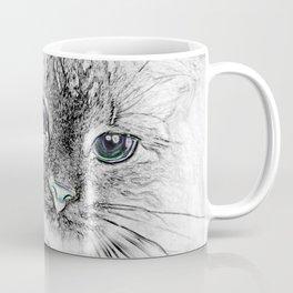 Siberian Kitty Cat Laying on the Marble Slab Coffee Mug