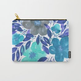 hand painted flowers_3 Carry-All Pouch