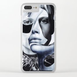 """Handmade collage """"Faces"""" Clear iPhone Case"""
