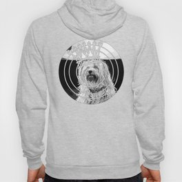 hairy havanese dog vector art black white Hoody