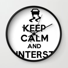 Keep Calm and Countersteer Wall Clock