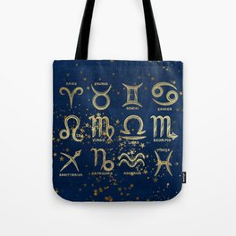 The 12 Zodiac Signs Tote Bag