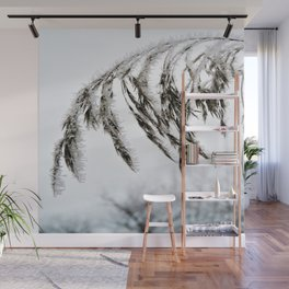 frozen grass in blck and white Wall Mural