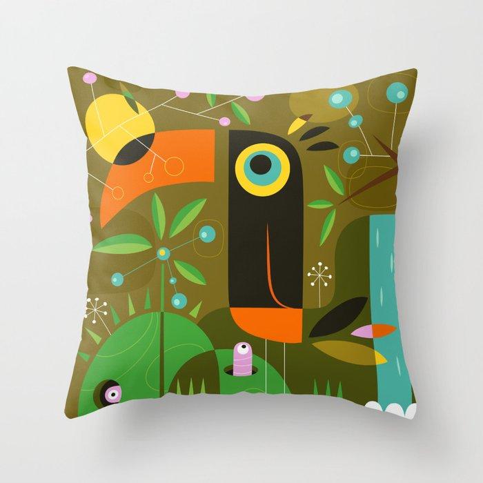 The toucan Throw Pillow