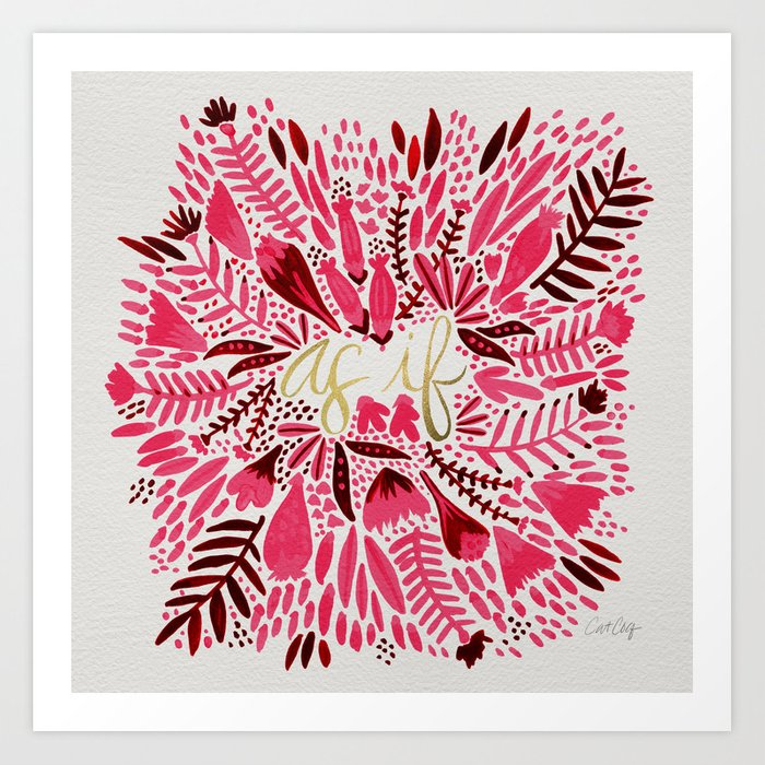 As If – Pink & Gold Art Print