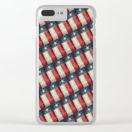 Vintage Texas flag pattern Clear iPhone Case