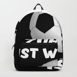 Zuhause ist wo mein Fußball ist - Fußballer Sport Rasenplatz Backpack