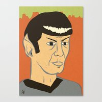 spock Canvas Prints featuring Spock by Arlin Ortiz