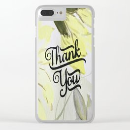 Floral Thank You Clear iPhone Case