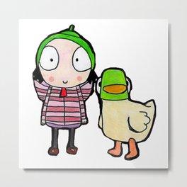 sarah and duck Metal Print