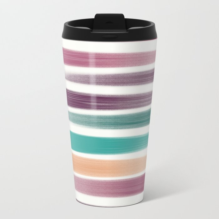 Brush strokes Metal Travel Mug