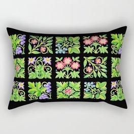 Tudor Flower Parterre Rectangular Pillow