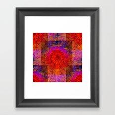 Abstract Autumn Sun Framed Art Print