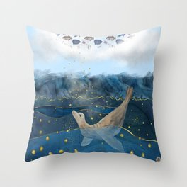 The Sea Lion's Dream - the race for food in warming oceans Throw Pillow