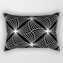 BLACK STORM, BLACK AND WHITE Rectangular Pillow