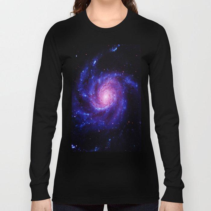 Spiral gAlAxy : Purple Blue Long Sleeve T-shirt