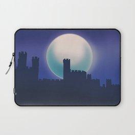 Caernarfon Castle, Gwynedd Wales castle travel poster Laptop Sleeve