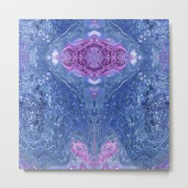 Psycho - 10th Amethyst Jewel Rising from Lotus Flower of Pink Chivalry by annmariescreations Metal Print