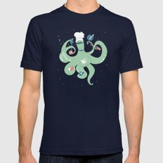The Octopus Chef X-LARGE Mens Fitted Tee Navy