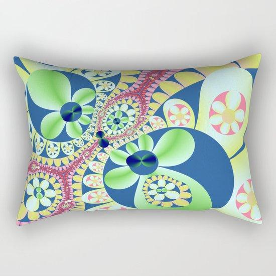 Floral fantasy pattern design Rectangular Pillow