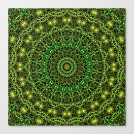 Forest Light Mandala Canvas Print