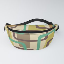 Mid Century Modern Overlapping Squares Pattern 127 Fanny Pack