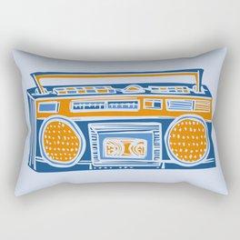 Blue Boombox Rectangular Pillow