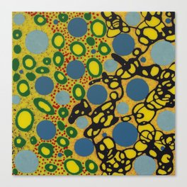 Untitled, blue dots Canvas Print