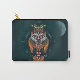 Wisdom Of The Owl King Carry-All Pouch