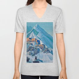 Nicholas Roerich - Tibet Himalayas - Digital Remastered Edition Unisex V-Neck