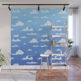 Sky of clouds Wall Mural