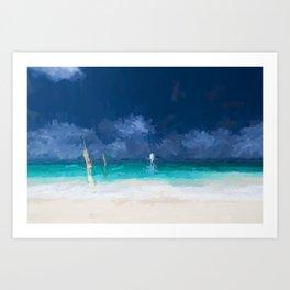 Caribbean sailing Art Print
