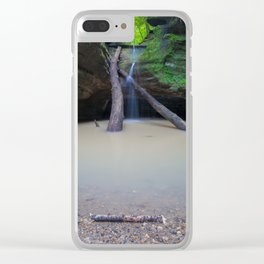 Time Passes and Waterfalls Clear iPhone Case