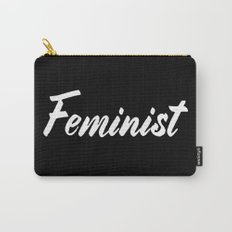 Feminist (on black) Carry-All Pouch