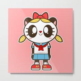 Tokupan Girl (Tokusatsu Panda) Before Henshin Metal Print