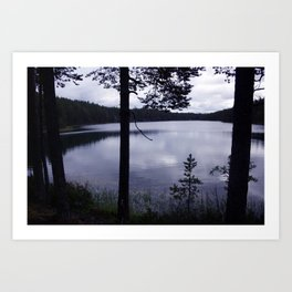 Blue Moment Lake View Art Print