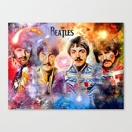 Thebeatles Painted Canvas Print