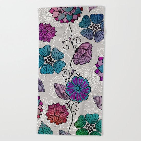 Flower Flow #2 Beach Towel