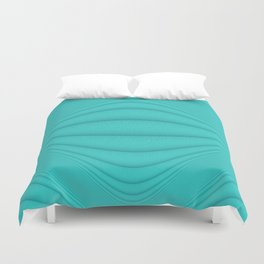 Brushed Aqua Contours Duvet Cover
