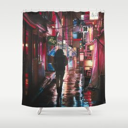 Red Light Shower Curtain