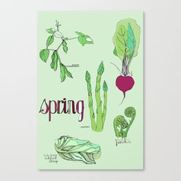 Fresh from the Farmers Market: Spring Canvas Print