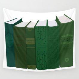 Jane Austen's Novels in Green Wall Tapestry