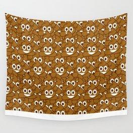 Poop Emoji Wall Tapestry